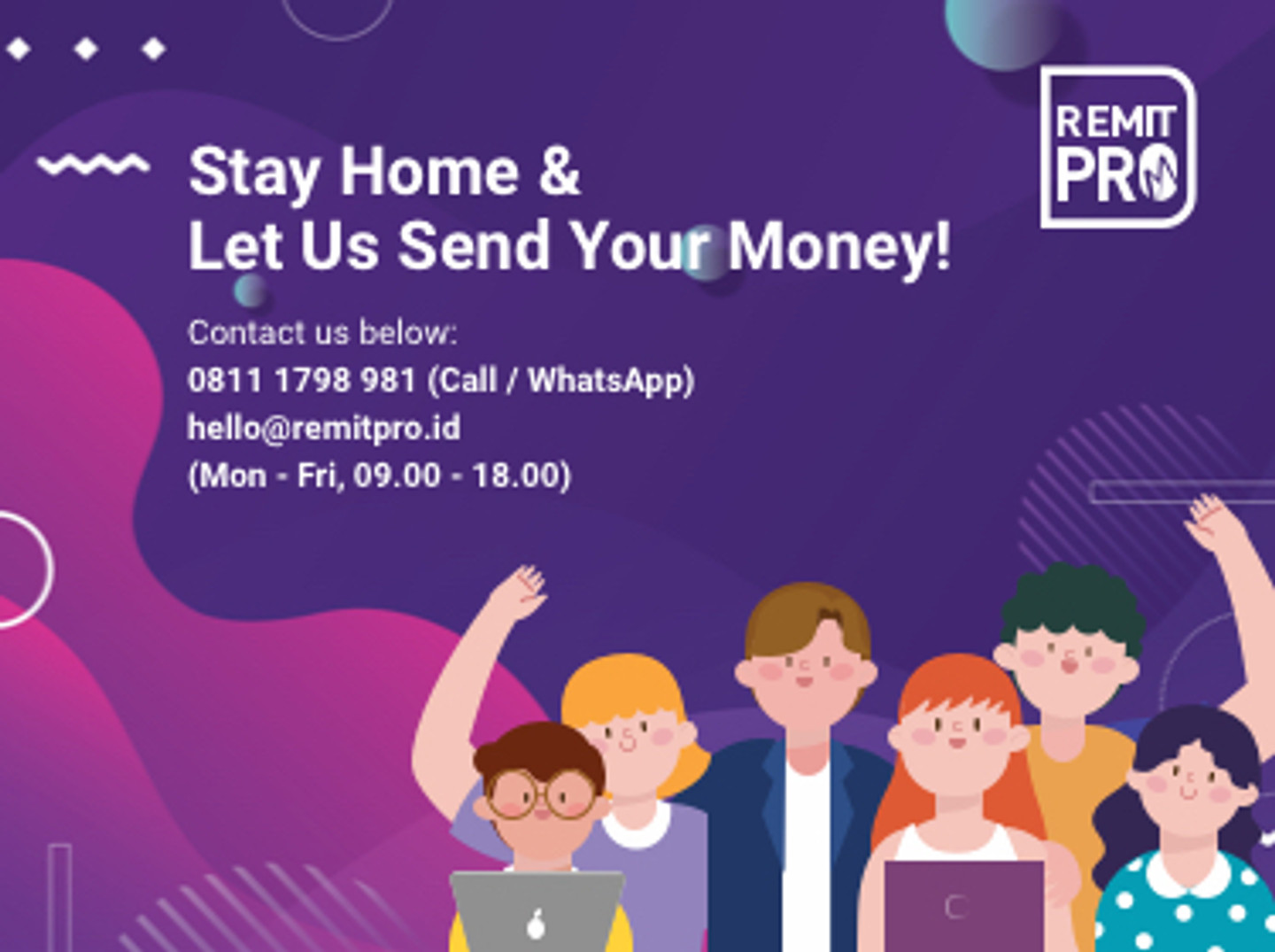 Stay Home & Let us Send Your Money